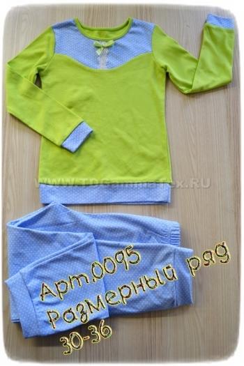 Детская пижама из интерлока Арт-0095 Р/Р 30-36