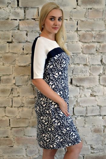 Платье из трикотажного полотна Арт-2355 Р/Р 48-54