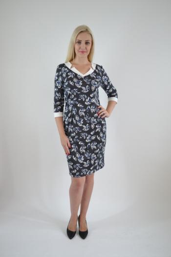 Платье из трикотажного полотна Арт-2372 Р/Р 46-50