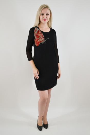 Платье из трикотажного полотна Арт-2458 Р/Р 48-52