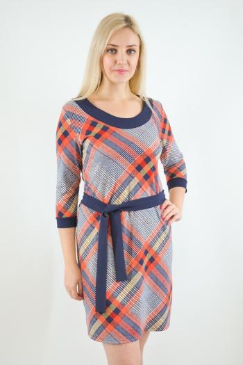 Платье из трикотажного полотна Арт-2490 Р/Р 46-52
