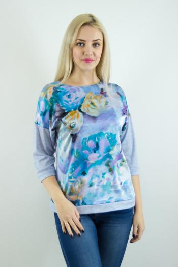 Блуза из трикотажного  полотна Арт-2492  Размерный ряд 50-56