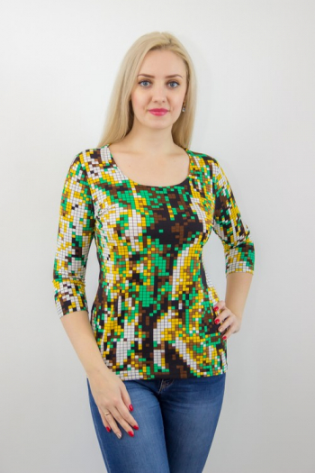 Блуза из вискозы Арт-2497 Р/Р 44-56