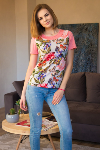 Блуза из вискозы Арт-2694 Р/Р 44-50