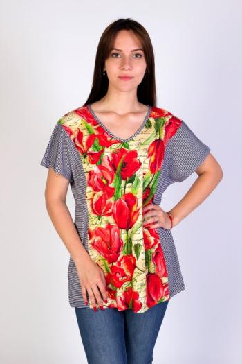 Блуза из вискозы Арт-2817 Р/Р 54-60