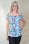 Блуза из комбинированной ткани Арт-2077 Р/Р 48-54
