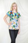 Блуза из комбинированной ткани Арт-2072 Р/Р 52-56