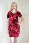 Платье из бархата Арт-2186 Р/Р 44-50