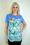 Блуза из комбинированной ткани Арт-2228 Р/Р 52-58