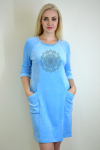 Платье из велюра Арт-2273 Р/Р 44-50