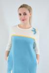 Платье из флиса Арт-2403  Размерный ряд 48-54