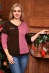 Блуза из трикотажного полотна Арт-2418 Р/Р 48-54