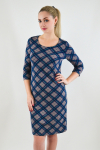 Платье из трикотажного полотна Арт-2447 Р/Р 50-56