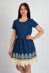 Платье из джинсовой ткани Арт-2812 Р/Р 44-48