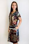 Платье из трикотажного полотна Арт-2839 Р/Р 52-60