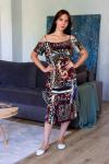 Платье из трикотажного полотна Арт-2851 Р/Р 46-52