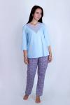 Пижама из комбинированных полотен Арт-2869 Р/Р 50-56
