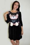 Платье из велюра Арт-2909 Р/Р 42-48