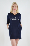 Платье из трикотажного полотна Арт-2365 Р/Р 44-48